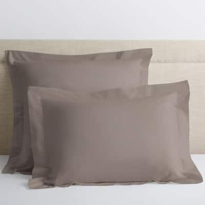Cinder Solid 400-Thread Count Supima Cotton Percale Euro Sham