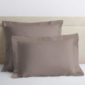 Cinder Solid 400-Thread Count Supima Cotton Percale King Sham