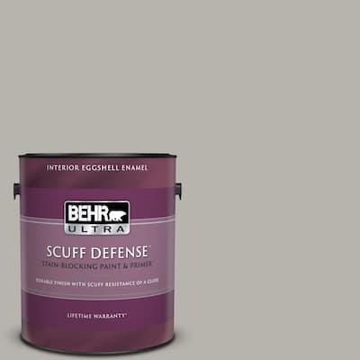 1 gal. #PPU24-11 Greige Extra Durable Eggshell Enamel Interior Paint & Primer
