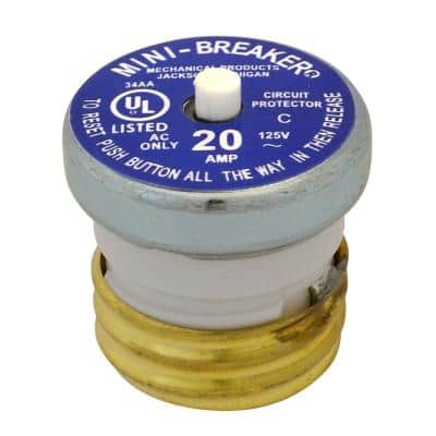20 Amp Plug Type Circuit Breaker
