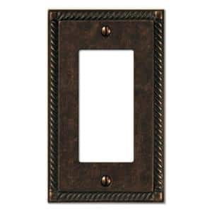 Bronze 1-Gang Decorator/Rocker Wall Plate (1-Pack)