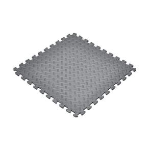 Gray 24 in. W x 24 in. L x 0.47 in. T Foam Interlocking Gym/Garage Flooring (24 sq. ft.) (6-Pack)
