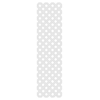 2 ft. x 8 ft. White Garden Vinyl Lattice