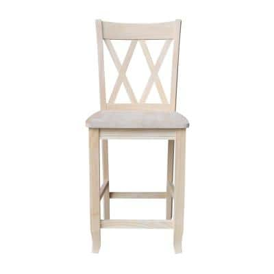 41 in. Double X-Back Stool