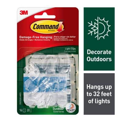 Clear Small Outdoor Light Clips