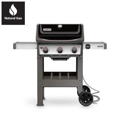 Spirit II E-310 3-Burner Natural Gas Grill in Black