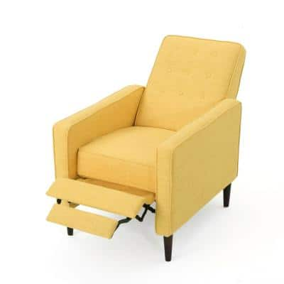 27 in. Width Big and Tall Muted Yellow Polyester Club Recliner