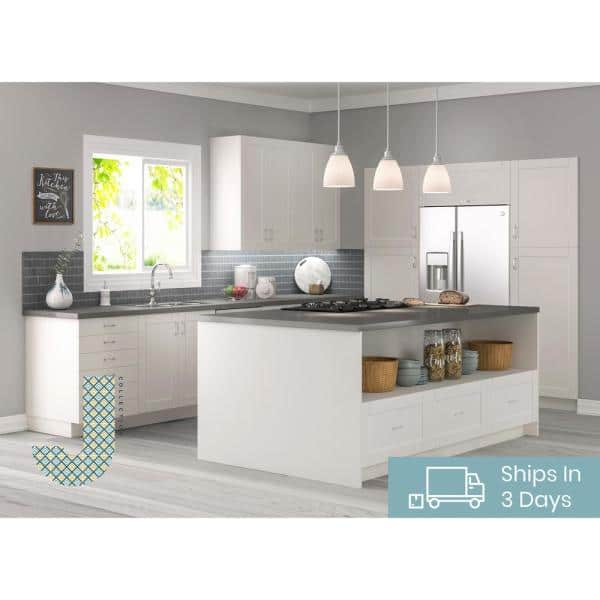 J Collection Shaker Assembled 36x15x14 In Wall Bridge Cabinet With Lift Up Door In Vanilla White Wlu3615 Ws The Home Depot