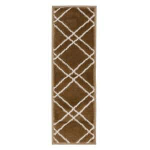 Vintage Collection Beige 9 in. x 28 in. Polypropylene Stair Tread Cover (Set of 7)