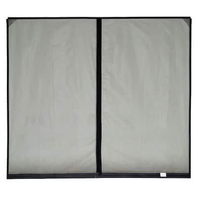 10 ft. x 8 ft. Stationary Garage Door Screen, 1 Zipper, with Vinyl Rod Pocket