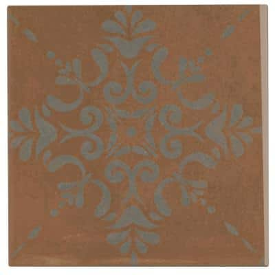 Moroccan Concrete Terra Cotta 8 in. x 8 in. Glazed Porcelain Decorative Floor and Wall Tile (11 sq. ft./Case)