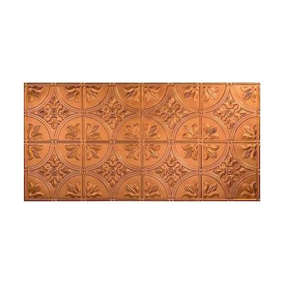 Traditional #2 2 ft. x 4 ft. Glue Up Vinyl Ceiling Tile in Antique Bronze (40 sq. ft.)
