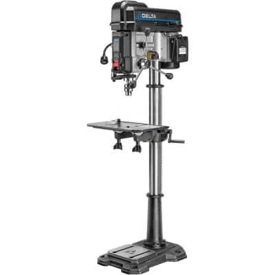 18 in. Floor Standing Drill Press with Worklight, Laser and 16-Speeds