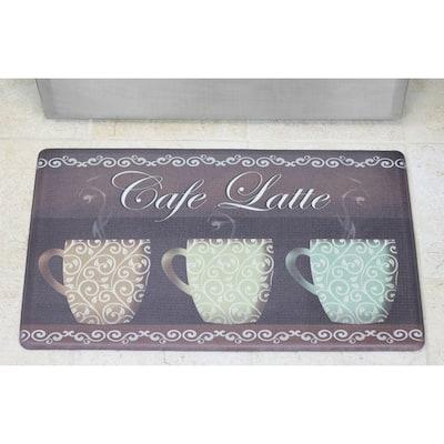 Café Latte 20 in. x 32 in. Anti-Fatigue Gelness Kitchen Mat