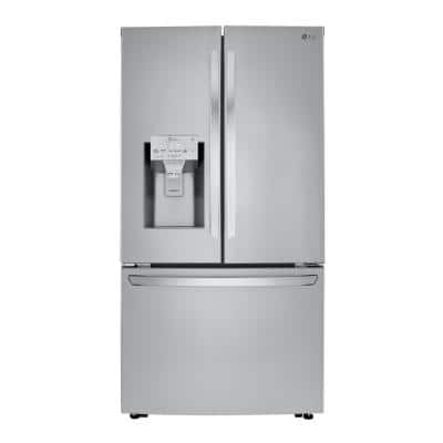 23.5 cu. ft. Smart French Door Refrigerator, Dual Ice Makers with Craft Ice in PrintProof Stainless Steel, Counter Depth