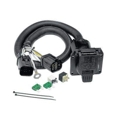 8.2 in. 0 ft. 7 Way Tow Harness Connector Wiring Cable Package for Ford Vehicles