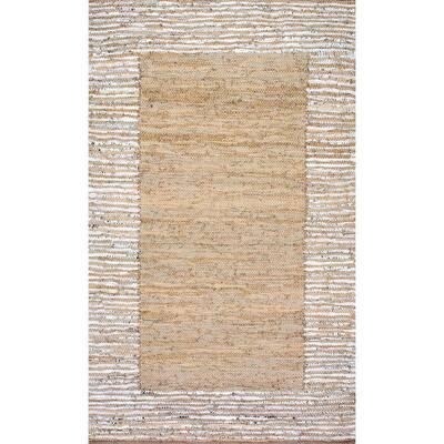 Neta Casual Striped Beige 8 ft. x 10 ft. Area Rug