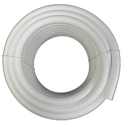 2 in. x 25 ft. PVC Schedule 40 White Ultra Flexible Pipe