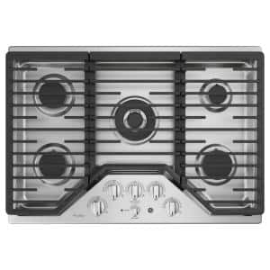 Profile 30 in. Gas Cooktop in Stainless Steel with 5 Burners with Rapid Burner Technology