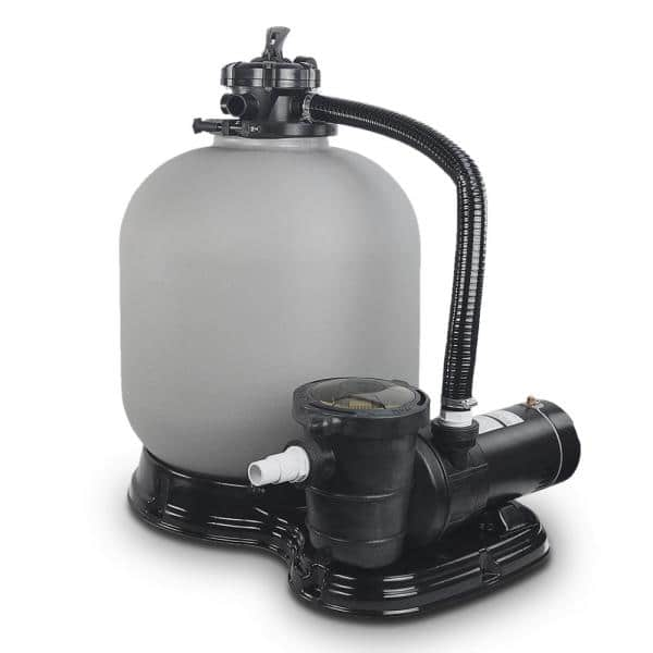 Xtremepowerus 19 In 2 Sq Ft Sand Filter System With 1 5 Hp Swimming Pool Pump 75032 H The Home Depot