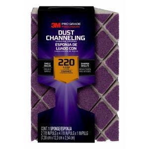 Pro Grade Precision 4-7/8 in. x 2-7/8 in. x 1 in. 220 Grit X-Fine Ultra Flexible Single Angle Sanding Sponge