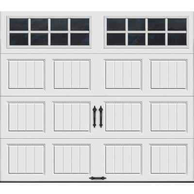 Gallery Collection 8 ft. x 7 ft. 6.5 R-Value Insulated White Garage Door with SQ24 Window