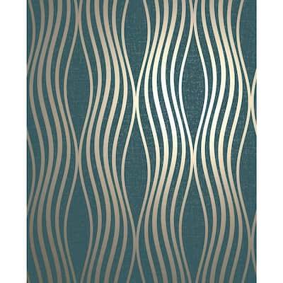 Valor Aquamarine Wave Aquamarine Wallpaper Sample