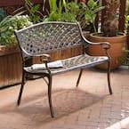 Cozumel 40 in. Antique Copper Aluminum Outdoor Bench