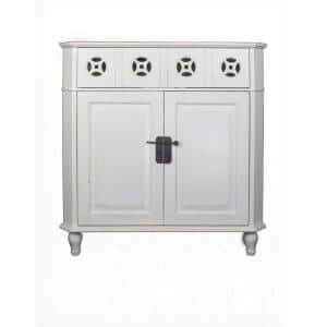 Shelly White Wood Cabinet with a Drawers