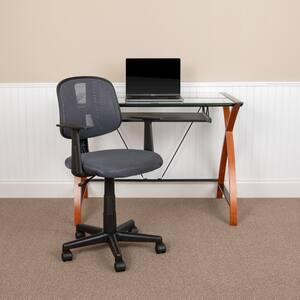 23 in. Width Standard Gray Mesh Task Chair