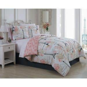 Amour 8-Piece Pink King Comforter Set