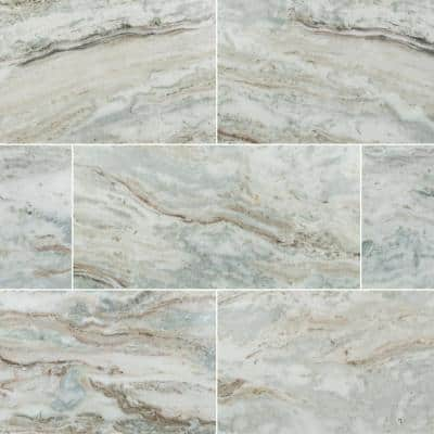 Take Home Tile Sample - Fantasy Brown 6 in. x 6 in. Polished Floor and Wall Marble Tile