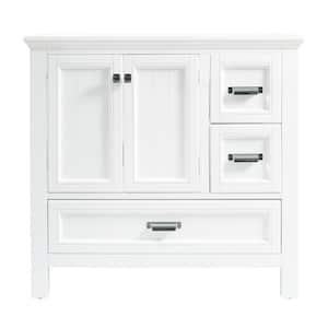 Brantley 36 in. W x 21-1/2 in. D Bath Vanity Cabinet Only in White