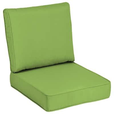 24 x 24 Sunbrella Canvas Gingko Outdoor Lounge Chair Cushion