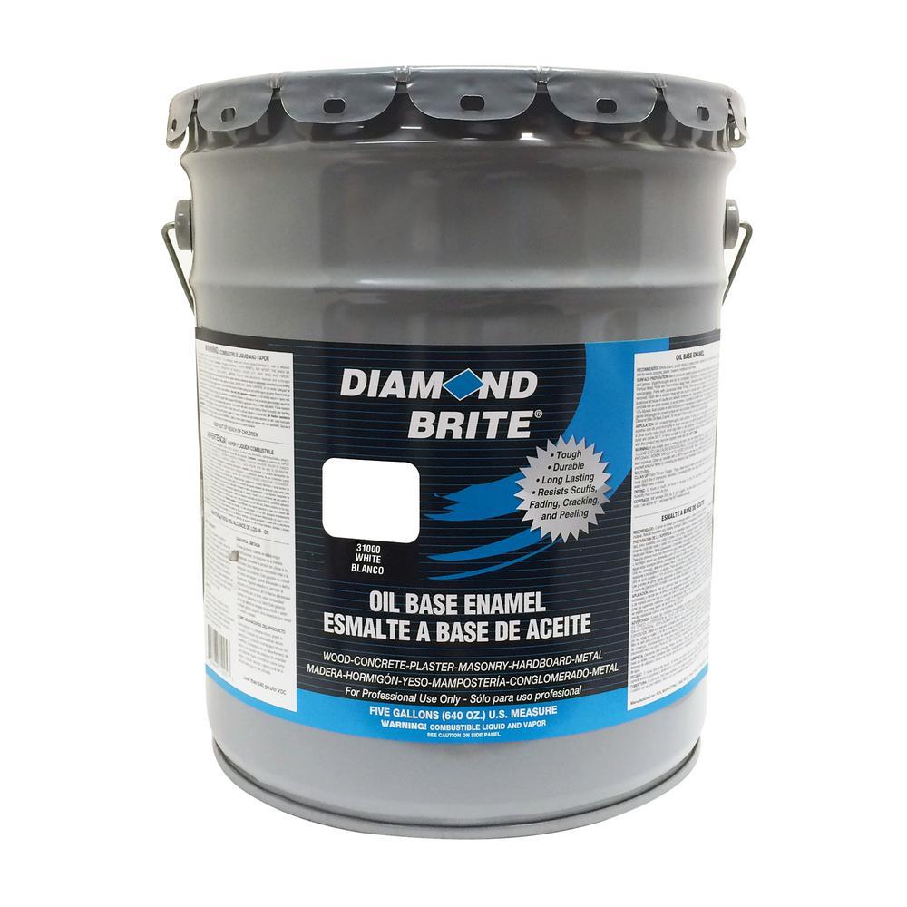 5 Gal. White Oil Base Enamel Interior/Exterior Paint