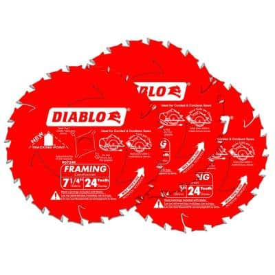 7-1/4 x 24T Pro 3-Pack Saw Blade