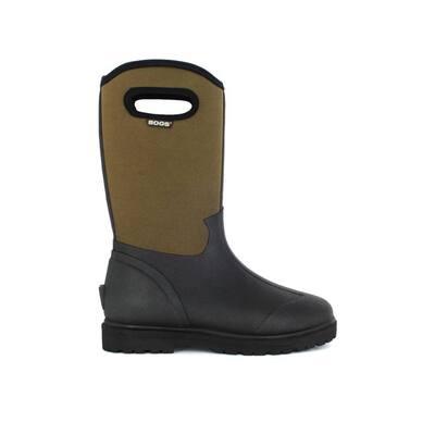 Roper Men 13 in. Size 11 Black Rubber with Neoprene Waterproof Boot