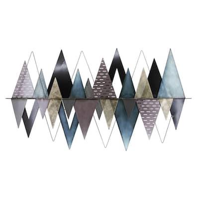 3D Metal Mountains Mixed Media Wall Art