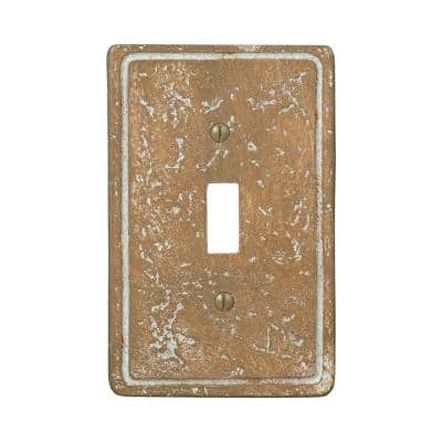 Faux Stone 1 Gang Toggle Resin Wall Plate - Noche