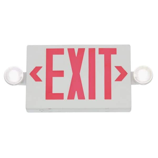"""All Pro APC7R /""""EXIT/"""" Sign LED Integrated Emergency Commercial Light White"""