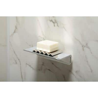 Choreograph 7 in. W Floating Shower Shelf in Bright Polished Silver