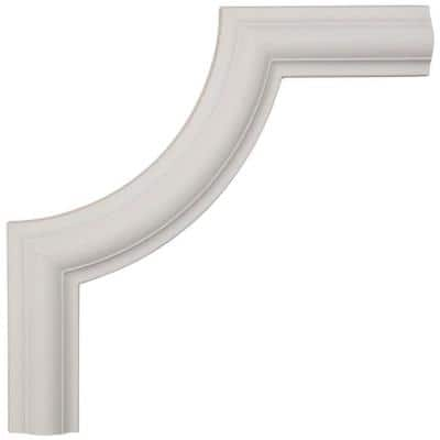 1/2 in. x 10 in. x 10 in. Urethane Ashford Smooth Panel Moulding Corner (Matches Moulding PML01X00AS)