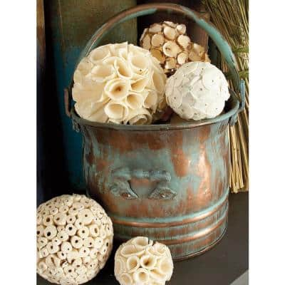 7 in. x 9 in. Bag of Tan and White Decorative Sola Balls