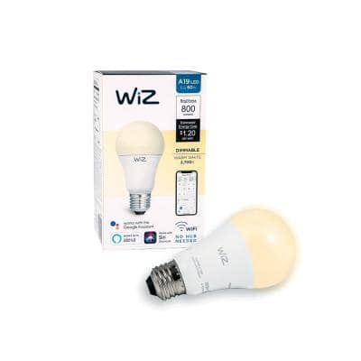 60-Watt Equivalent A19 Dimmable Wi-Fi Connected Smart LED Light Bulb Warm White