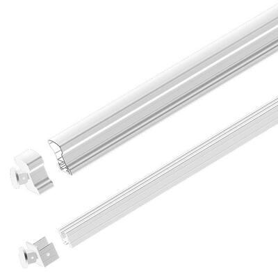White 6 ft. Aluminum Stair Hand and Base Rail Kit