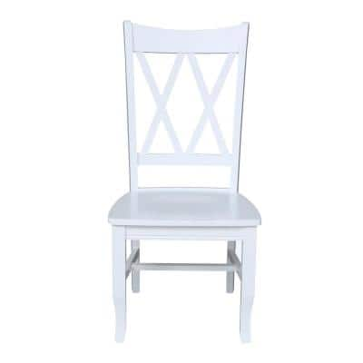 Double X White Dining Chair (Set of 2)