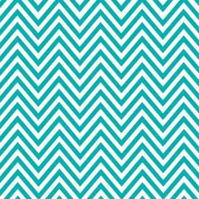 Creative Covering Teal and White Chevron Adhesive Shelf and Drawer Liner
