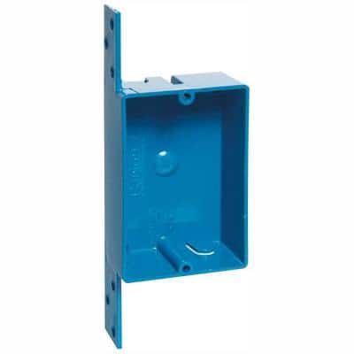 1-Gang 8 cu. in. Blue PVC New Work Electrical Switch and Outlet Box (Case of 25)