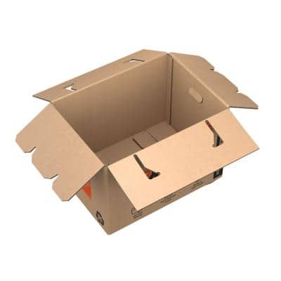 Heavy-Duty Ready Pack Medium Moving Box with Handles 10-Pack (22 in. L x 16 in. W x 15 in. D)