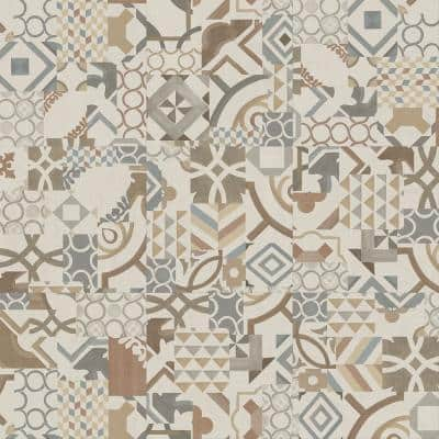 Geometry 18 in. x 18 in. Luxury Vinyl Tile Peel And Stick Wall (18 sq. ft. / Case)